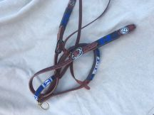 Beaded Bridle and Split Reins