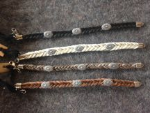 Horsehair Bracelets with Conchos