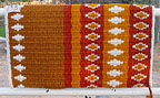 """Jasmine"", A Hand-Woven Saddle Blanket from the Brown Cow Studio in Santa Fe"