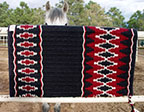 """Blackberry Canyon"" Saddle blanket Made in Santa Fe by The Brown Cow Saddle blanket Company"