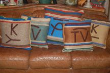 "Handwoven ""Branded"" Pillows by Tina B. Woolley"