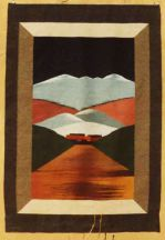 """Pueblo Winter"" Tapestry by Tina B. Woolley"