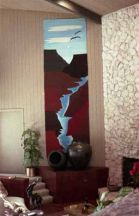 """Ruidoso Canyon"" Tapestry by Tina B. Woolley"