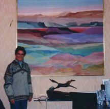 """Ruidoso Hills"" Tapestry by Tina B. Woolley"