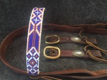 Sandia Sunset Beaded Headstall