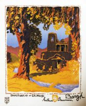 """Sancturio Chimayo"" Gustave Baumann Tapestry by Tina B. Woolley"