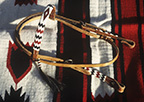 Handmade Beadwork on Leather Headstall. Made in Our Santa Fe Studio
