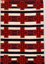 """Truchas Crosses"" Rug by Tina B. Woolley"
