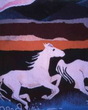 """Running Horses"" Tapestry by Tina B. Woolley"