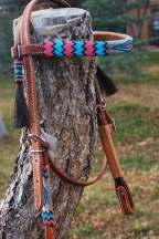 """Alamo Winter"" Beaded Headstall"
