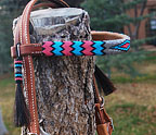"""Alamo Winter"" Handmade Beadwork Headstall With Tassles"