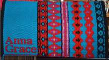 """Anna Grace"" Branded Saddle Blanket"
