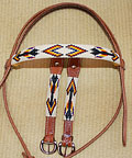 """Apache Nights"" Handmade Beadwork Headstall"