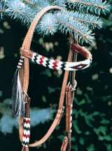 """Apache I"" Beaded Headstall"