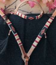 """Apache II"" Handmade Beaded Tack Set"