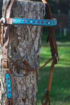 """Aqua Mountain"" Beaded Headstall"