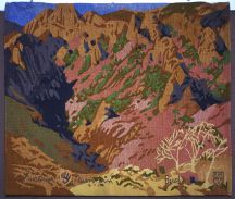 """Untitled"" Gustave Baumann Tapestry by Tina B. Woolley"