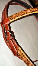 """Buffalo"" Beaded Headstall"