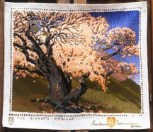 """The Bishop's Apricots"" Gustave Baumann Tapestry by Tina B. Woolley"