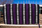 """Grapes of Joy!"" Hand Woven Saddle Blanket, Made in our Santa Fe studio"