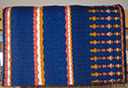 """The Blue Moon"" Hand-woven saddle blanket made in our Santa Fe studio with our hand-dyed yarns"