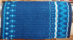 """Blue Bird Song"", A Hand-Woven Saddle Blanket with SEQUINS from the Brown Cow Studio in Santa Fe"