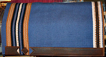 """Blue Moon"" Hand-Woven Wool Saddle Blanket by Christina Bergh"