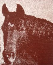 """Brown Cow"" Tapestry by Tina B. Woolley"
