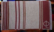 "Handmade ""Branded"" Saddle Blanket by Christina Bergh"