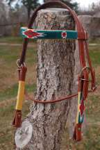 """Cherokee II"" Beaded Headstall"