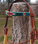 """Cherokee II"" Handmade Beadwork Headstall from The Brown Cow"