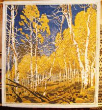 """Aspen Thicket"" Gustave Baumann Tapestry by Tina B. Woolley"