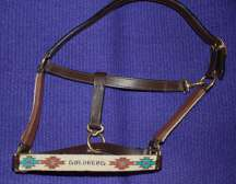 Personalized Handmade Beaded Leather Halter