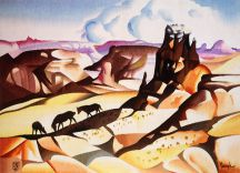 """Horse Mesa"" Tapestry by Tina B. Woolley"