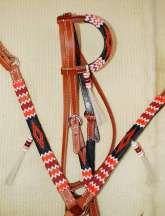 """Jicarilla Cliffs"" Handmade Beaded Tack Set"