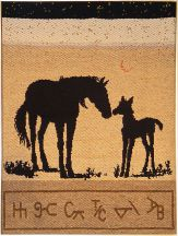 """Mare and Foal"" Tapestry by Tina B. Woolley"
