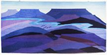 """Blue Mesas"" Tapestry by Tina B. Woolley"