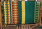 """Monet's Garden"" Hand-Woven Saddle Blanket from the Brown Cow Studio in Santa Fe"