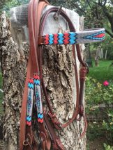 """Ponderosa"" Handmade Beaded Tack Set"