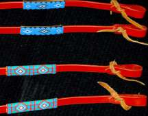 Handmade Beaded Leather Reins