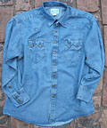 Men's Denim Tencil Shirt by Rockmount