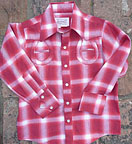 Children's Companion Vintage Horseshoe Plaid Shirt by Rockmount
