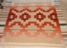Reversible Southwestern Rug by Tina B. Woolley