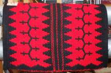"""Navajo Journey II"" Hand Woven Historic Reproduction Saddle Blanket"