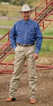Khaki Ranch Trousers by Schaefer Ranchwear