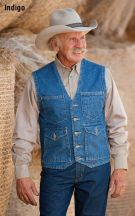 Denim Mesquite Vest by Schaefer Ranchwear