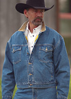 Fleece-Lined Legend Denim Jacket by Schaefer Ranchwear