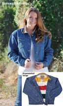 Ladies Blanket Fleece Legend Denim Jacket by Schaefer Ranchwear