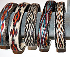 Silver Tipped Hitched Horsehair Bracelets by Colorado Horsehair