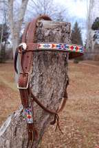 """Tribal Harvest"" Beaded Headstall"